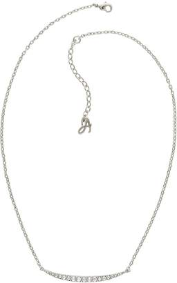Adore Rhodium Plated Curved Bar Necklace