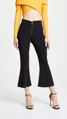 Cushnie High Waisted Cropped Flare Pants