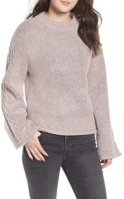 Love By Design Lattice Sleeve Sweater
