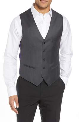 Ted Baker Troy Trim Fit Solid Wool Vest