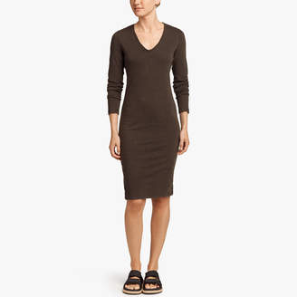 James Perse SUEDED JERSEY SIDE PANEL DRESS
