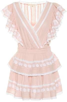 LoveShackFancy Gwen lace-trimmed cotton dress