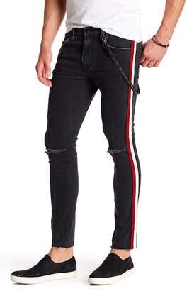 Joe's Jeans Legend Side Striped Skinny Jeans