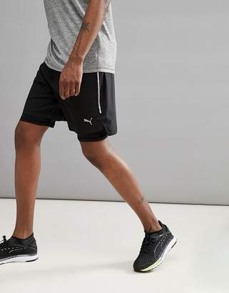 Puma Power Run 2-In-1 7 Inch Shorts In Black 51626501