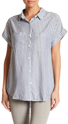 Beach Lunch Lounge Lake Striped Camp Shirt $49 thestylecure.com