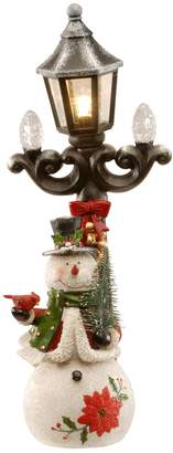 "National Christmas Tree 13.5"" Snowman and Lamppost Floor Decor"
