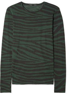 Proenza Schouler Printed Cotton-jersey Top - Dark green