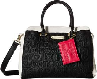 Betsey Johnson Triple Entry Satchel Satchel Handbags