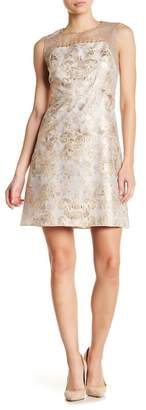 Elie Tahari Vera Embellished Metallic Floral Dress