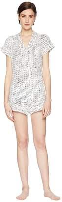 Eberjey Artesano Dot -The Shorts PJ Set Women's Pajama Sets