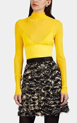 Proenza Schouler Women's Cami-Inset Knit Turtleneck Sweater - Yellow