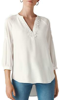 Whistles Lace-Trimmed Top