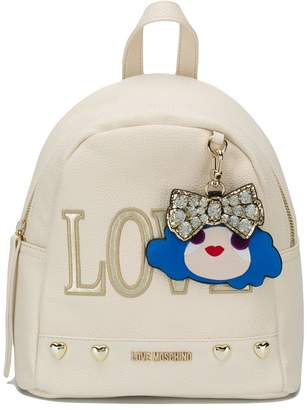 Love Moschino blush pink Love backpack