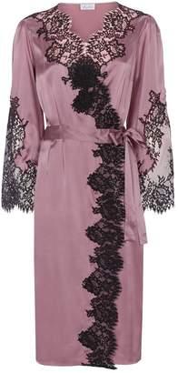 Marjolaine Long Silk Lace Robe