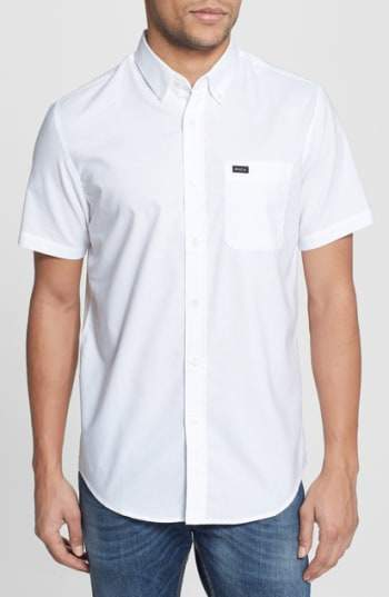 'That'll Do' Slim Fit Short Sleeve Oxford Shirt