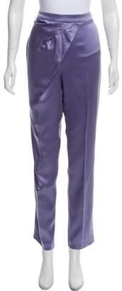 Blumarine Silk High-Rise Straight-Leg Pants w/ Tags