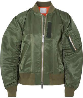 Sacai Oversized Shell Bomber Jacket - Army green