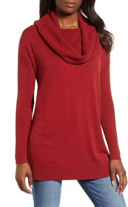 Caslon Side Slit Convertible Cowl Neck Tunic