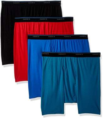 Hanes Men's 4-Pack ComfortBlend Boxer Brief with FreshIQ
