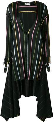 ATTICO Stripe Wrap Tunic