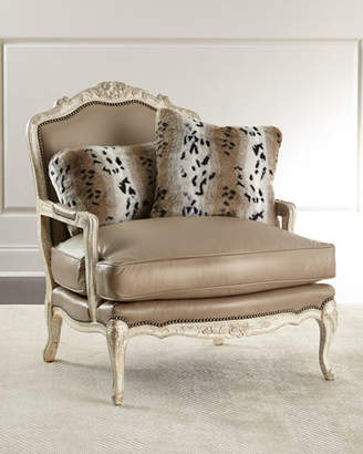 Old Hickory Tannery Dusk Leather Bergere Chair