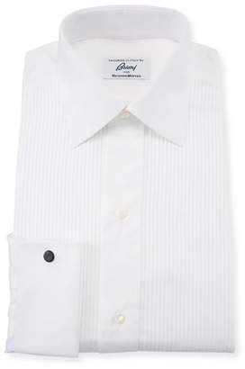 Brioni Men's Barron Pleated Tuxedo Shirt