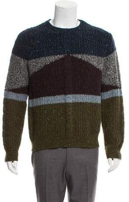 Valentino Cashmere Blend Cable Knit Colorblock Sweater