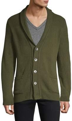 HUGO Shawl Collar Wool Blend Cardigan
