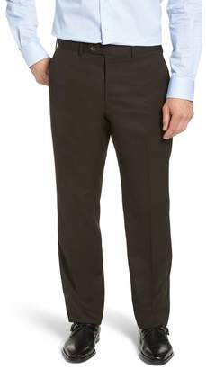 John W. Nordstrom Torino Classic Fit Flat Front Solid Trousers