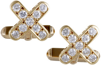 Mikimoto Heritage  18K Yellow Gold 0.51 Ct. Tw. Diamond Cufflinks