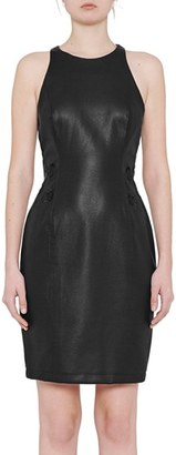 French Connection Canterbury Faux Leather Sheath Dress $198 thestylecure.com