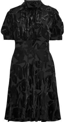 McQ Crystal-embellished Devoré-velvet Dress - Black
