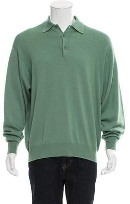Barneys New York Barney's New York Cashmere & Wool-Blend Henley Sweater