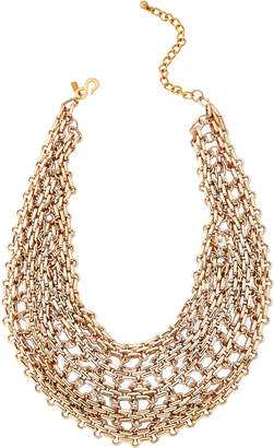 Kenneth Jay Lane Gold-Tone Chain Link Bib Necklace