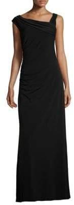 Ellen Tracy Asymmetrical Neck Gown