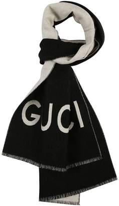 Gucci Wolf Jacquard Scarf