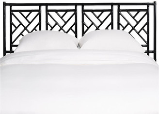 David Francis Furniture Chippendale Headboard - Black