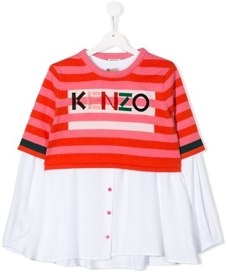 Kenzo TEEN layered shirt jumper