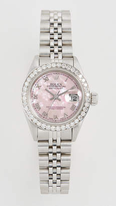 Rolex Pre-Owned Ladies Datejust Pink Mop Roman, Diamond Bezel, Jubilee Band