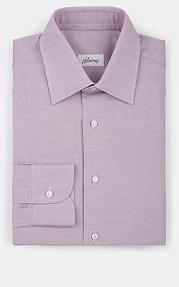 Brioni Men's Piqué Cotton Dress Shirt - Red