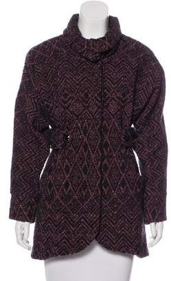Tracy Reese Patterned Knit Coat