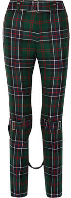 Gucci Tartan Wool Slim-leg Pants