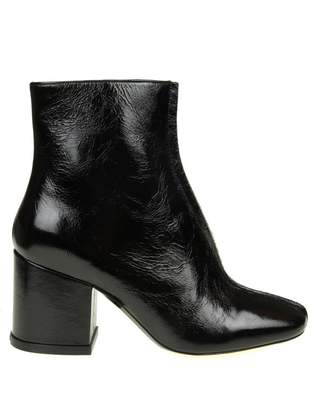 "Kenzo daria"" Ankle Boots In Black Color Leather"