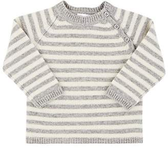 Barneys New York Infants' Striped Cashmere Sweater - Gray