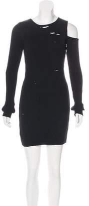 Amiri Distressed Asymmetrical Dress