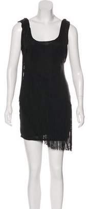 Elizabeth and James Linen Fringe Mini Dress