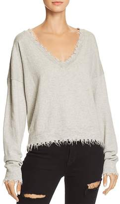 Nation Ltd. Darcy Boxy Distressed Sweater