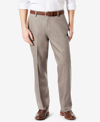 Dockers Signature Lux Cotton Relaxed Fit Pleated Khaki Stretch Pants D4