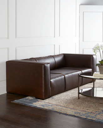 Old Hickory Tannery Mathis Leather Sofa