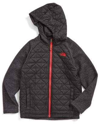 The North Face Water Repellent Quilted Sweater Fleece Hoodie